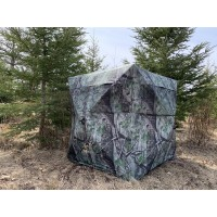 THUNDERBAY SPUR Collector 2 Person Turkey Blind, JXC Spring Camo Hunting Blind, Portable Ground Blind with Silent Sliding Window