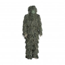 J.M RUSK 3D Woodland Camouflage Ghillie Suit for Hunting (XXL) 3-Piece + Bag