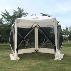 【Out of Stock】THUNDERBAY Pop-Up Portable Screen Tent, 5-Sided Hub Gazebo, 4 Person Screen House, Easy Install Canopy